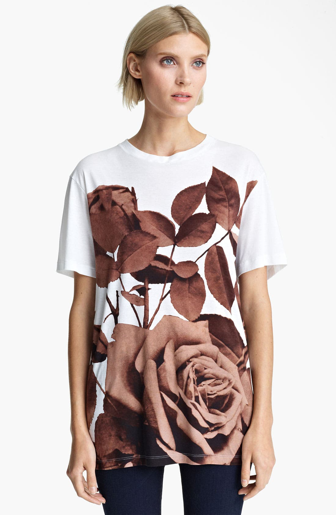 Main Image - Christopher Kane Rose Print Tee