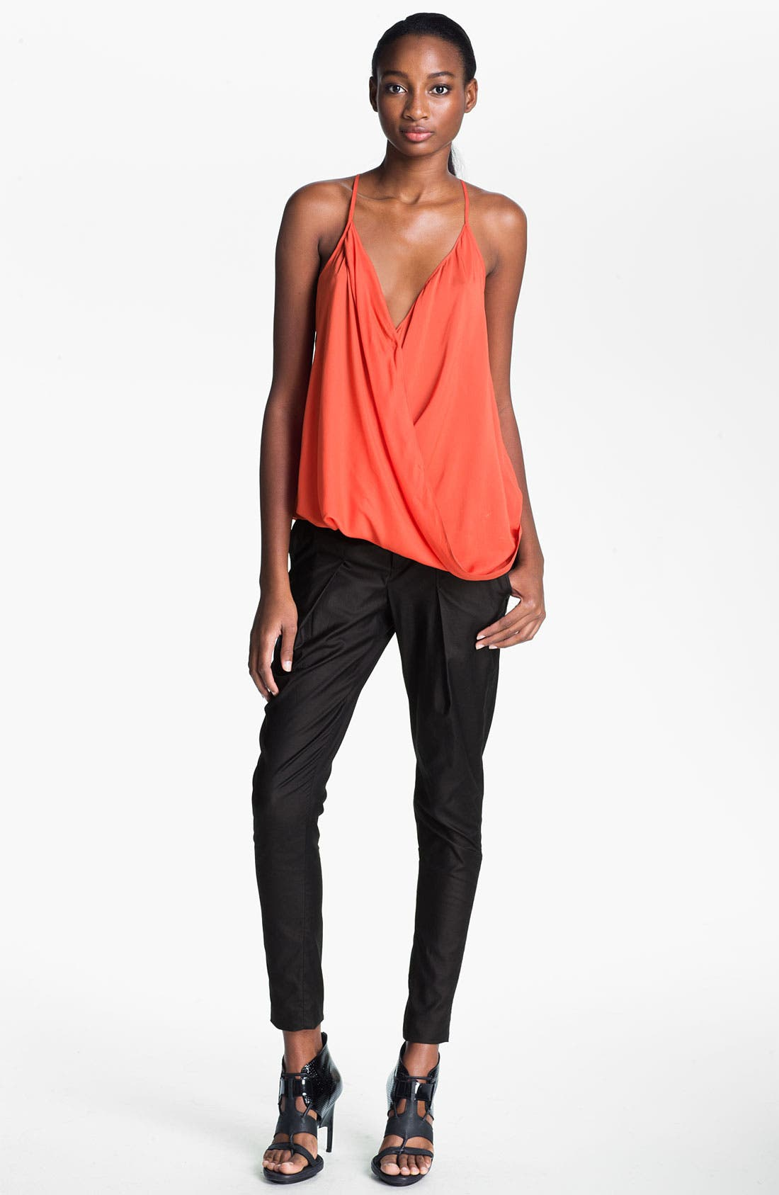 Alternate Image 5  - Helmut Lang 'Rift' Stretch Leather Crop Leggings
