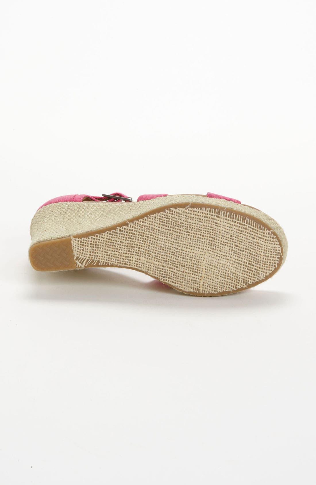 Alternate Image 4  - TOMS Hemp Wedge Sandal