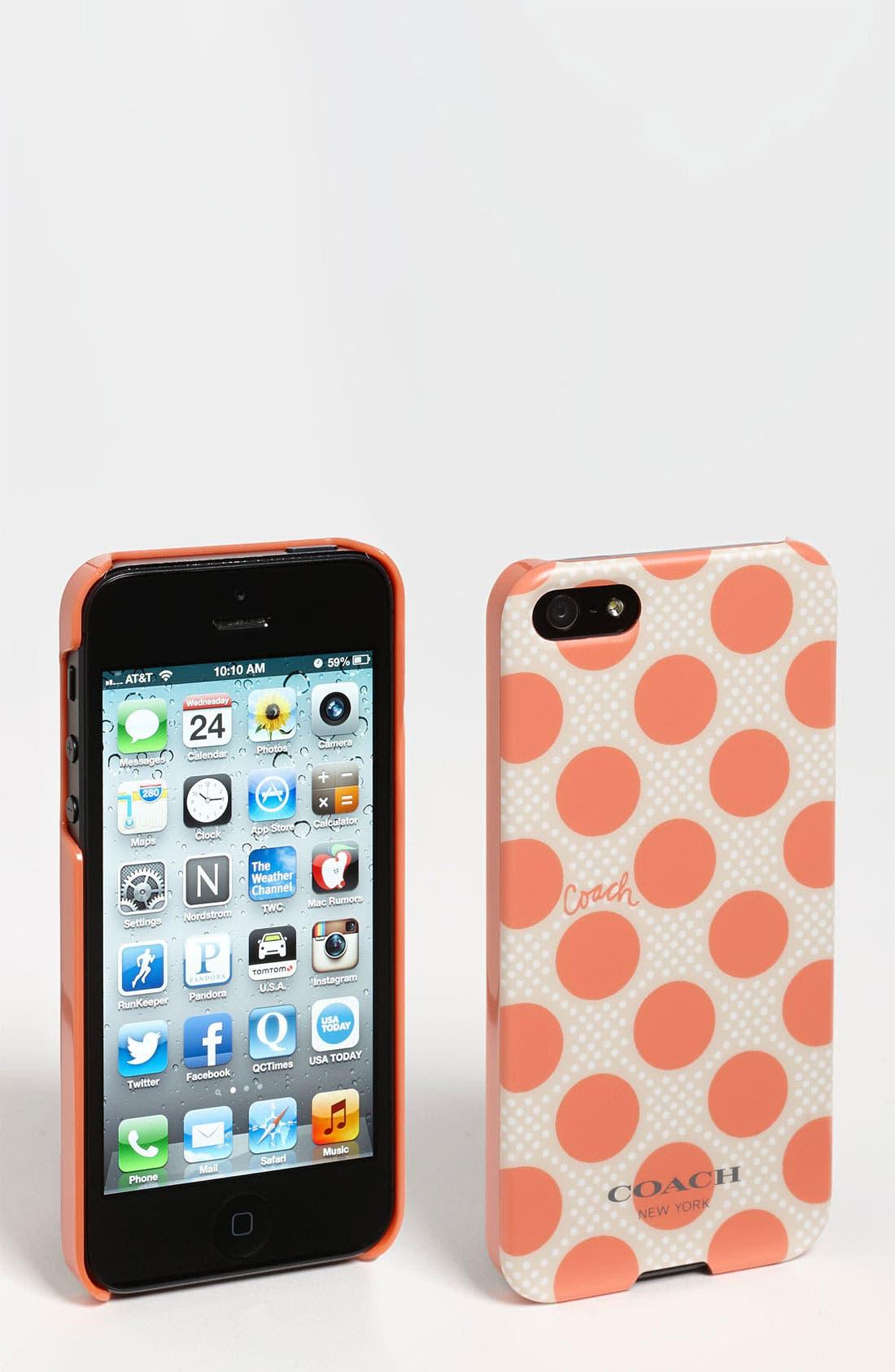 Alternate Image 1 Selected - COACH 'Polka Dot' iPhone 5 Case