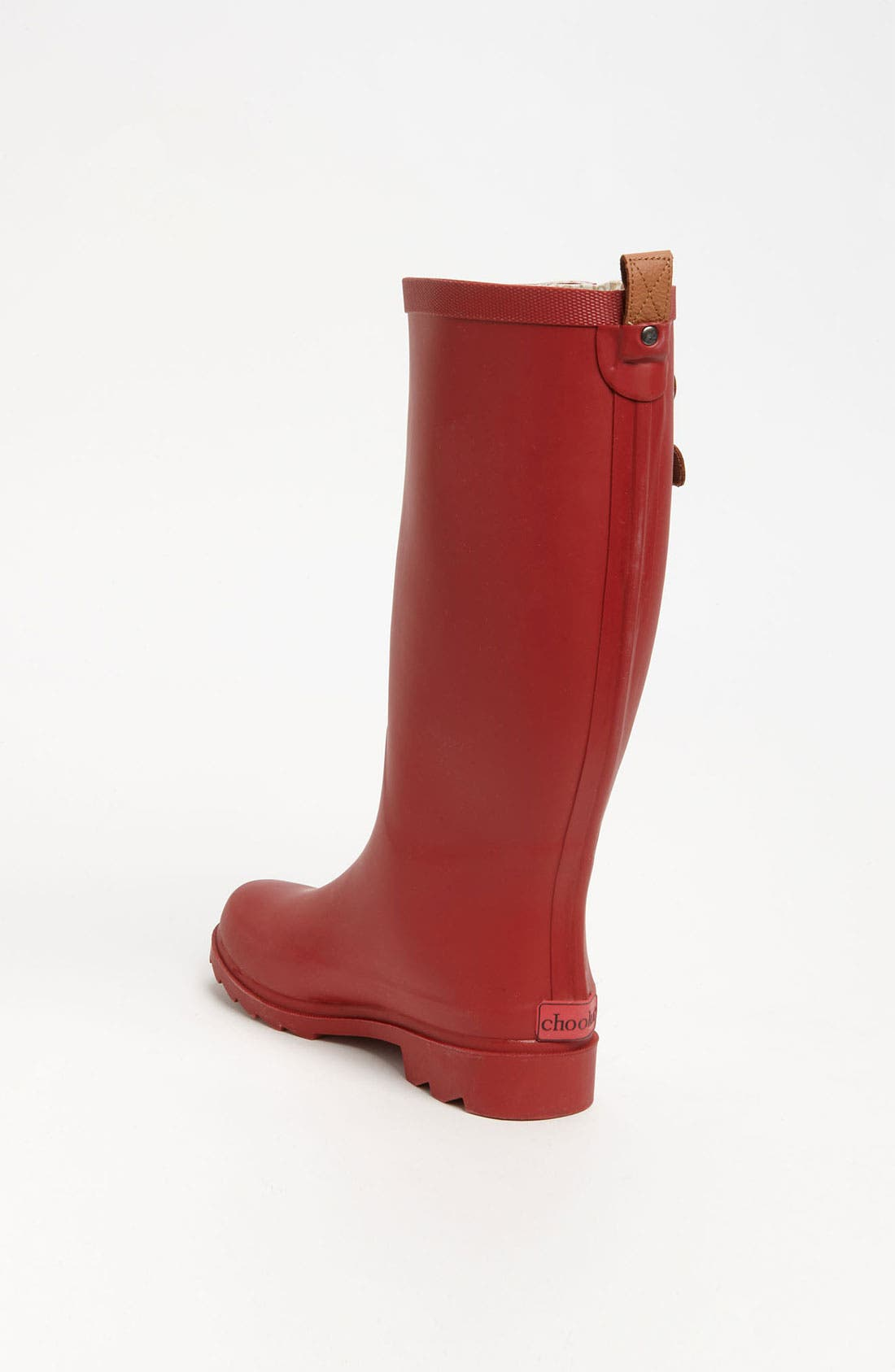 'Top Solid' Rain Boot,                             Alternate thumbnail 3, color,                             Red