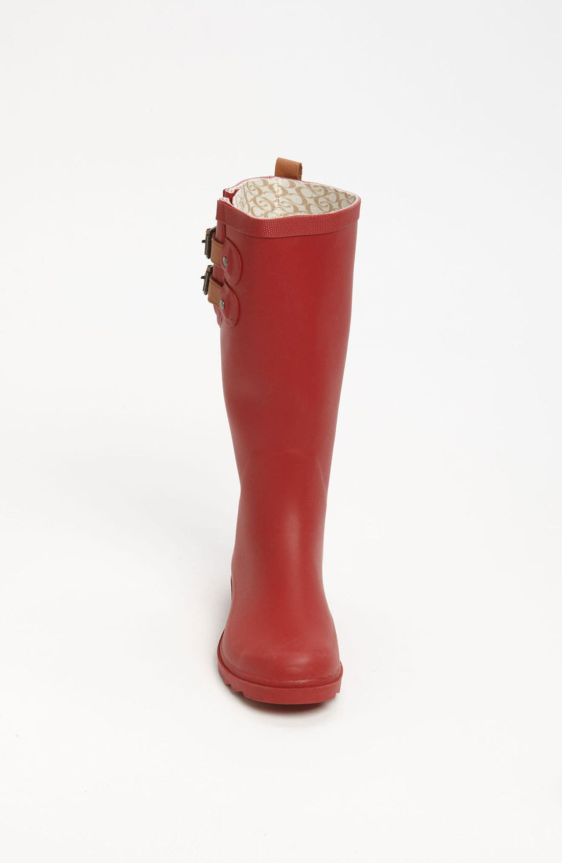 'Top Solid' Rain Boot,                             Alternate thumbnail 2, color,                             Red