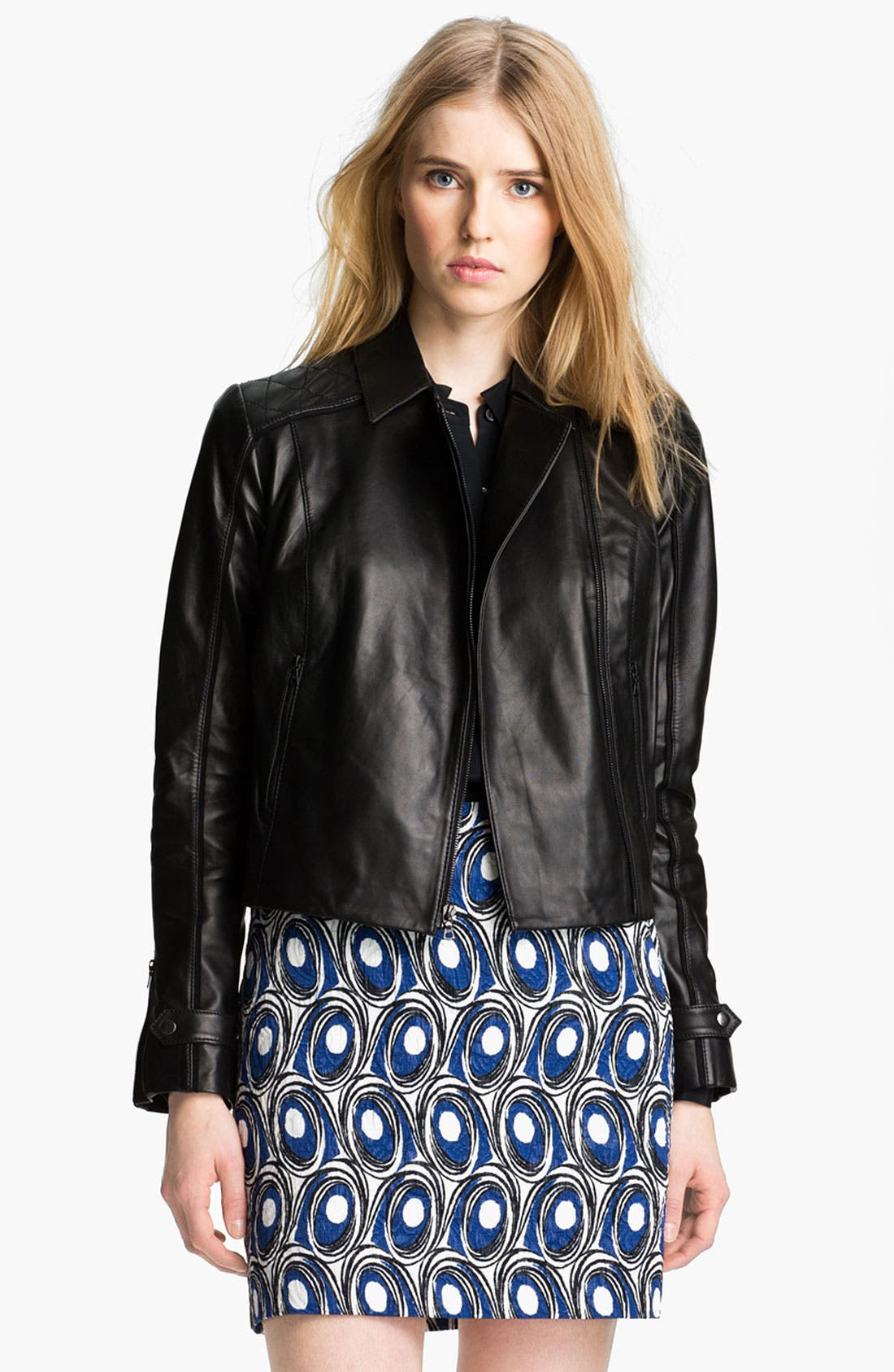 Alternate Image 2  - Miss Wu Leather Biker Jacket (Nordstrom Exclusive)