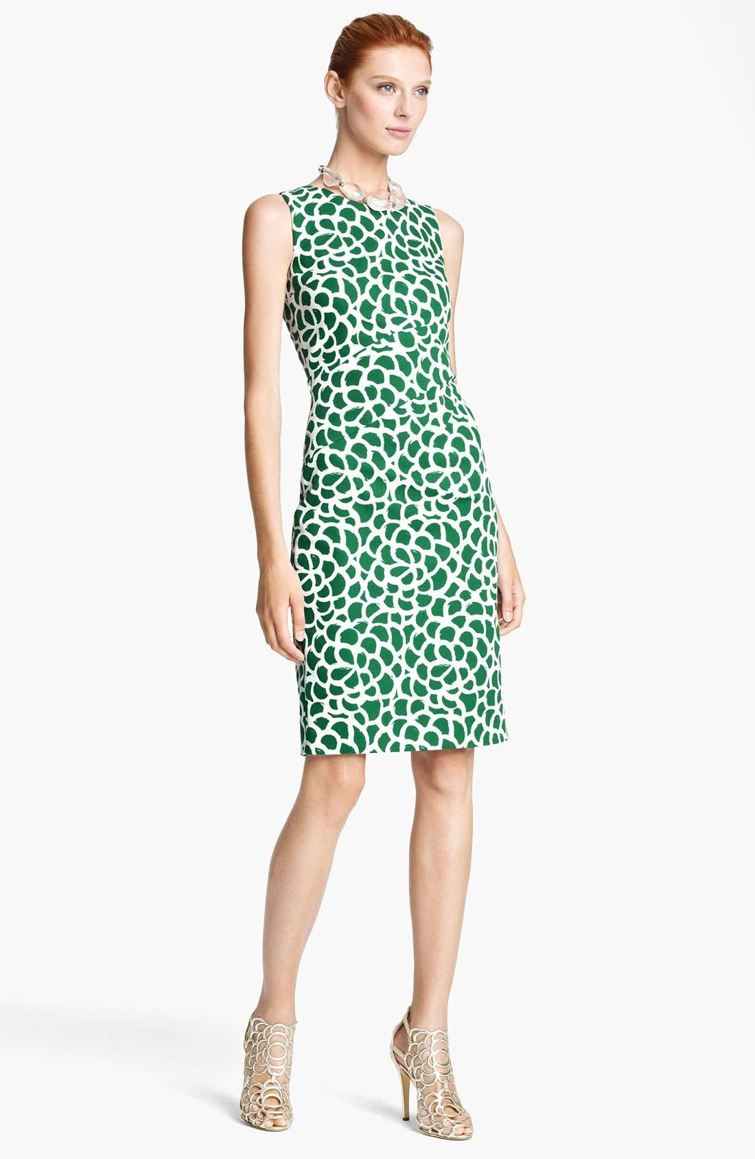 Alternate Image 1 Selected - Oscar de la Renta Print Canvas Dress