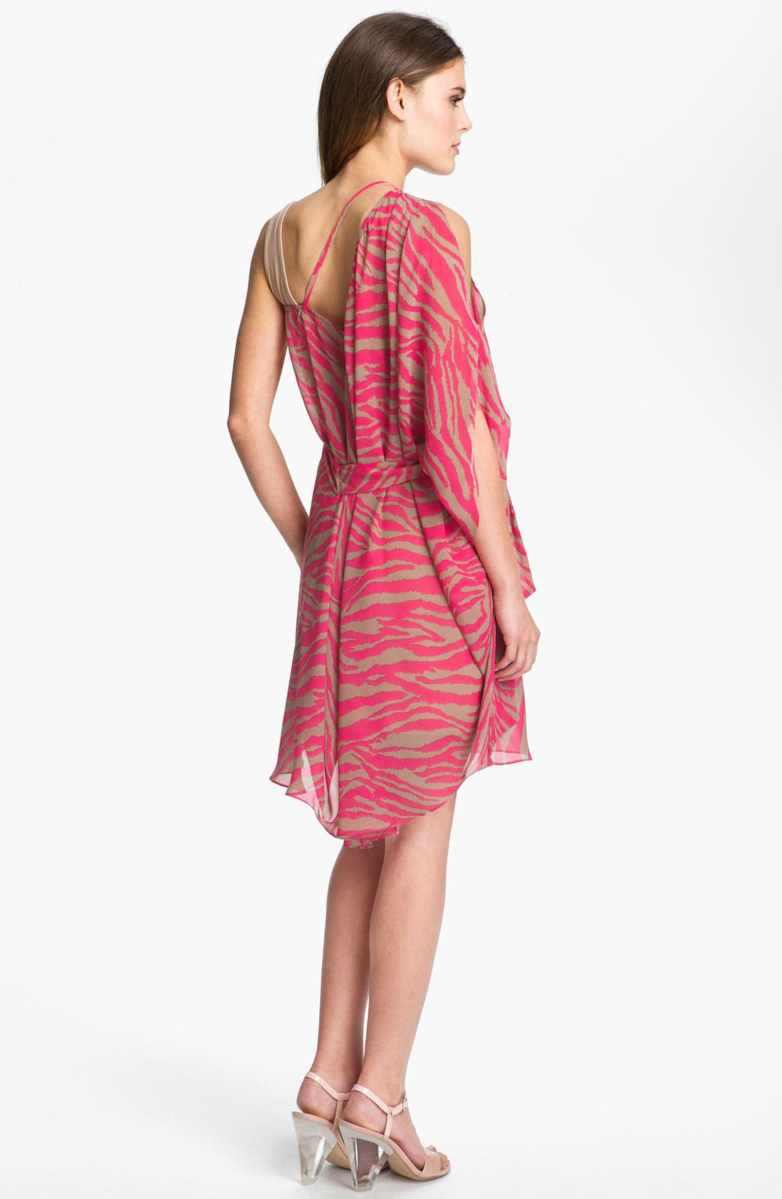 Alternate Image 3  - Abi Ferrin 'Greta' Convertible Print Chiffon Dress