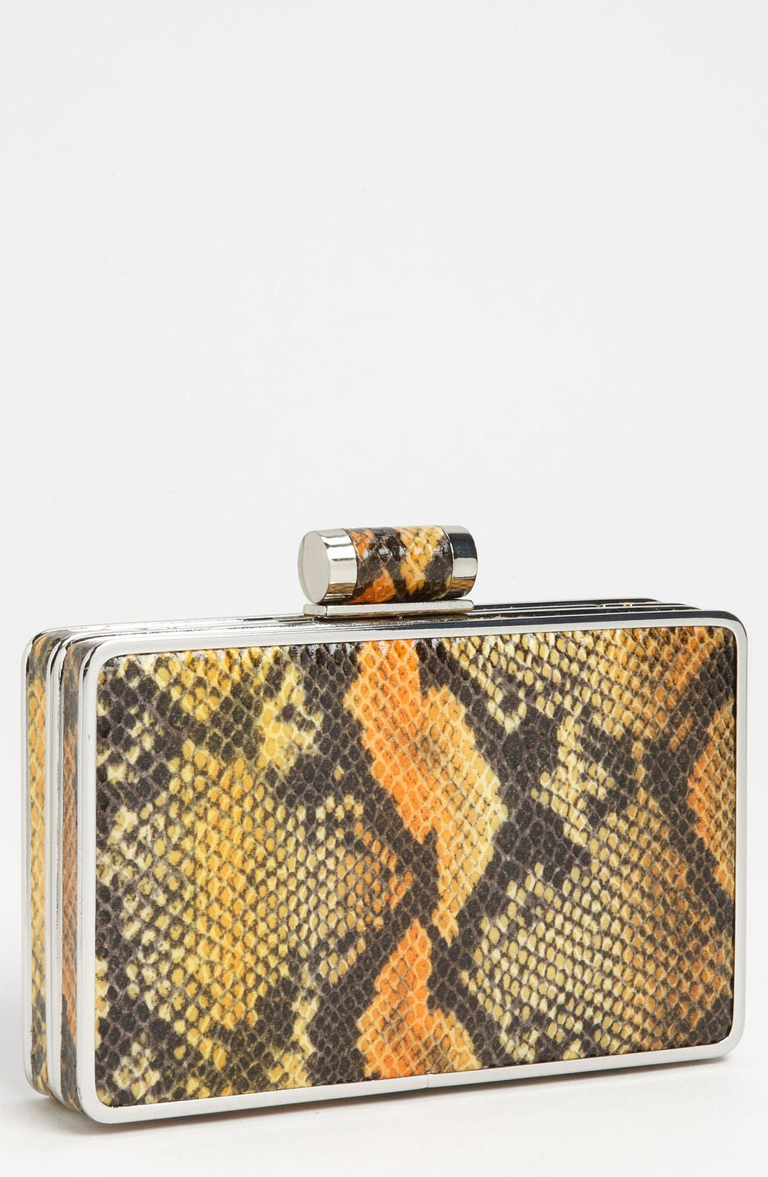 Alternate Image 1 Selected - Sondra Roberts Snake Print Box Clutch