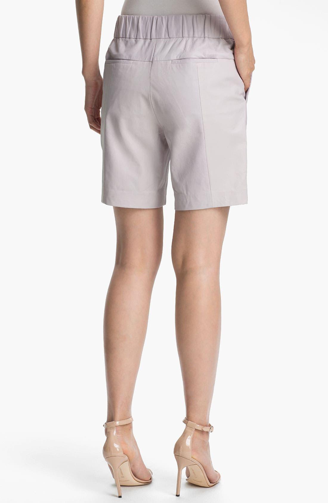 Alternate Image 2  - Halston Heritage Leather Shorts