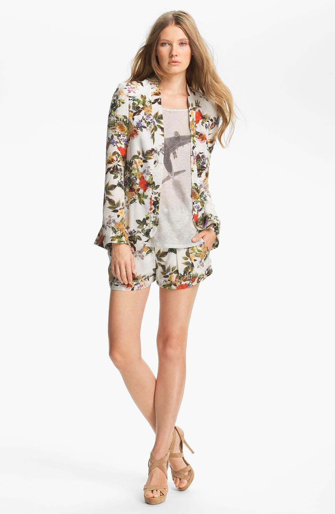 Alternate Image 5  - Haute Hippie Floral Print Silk Blazer