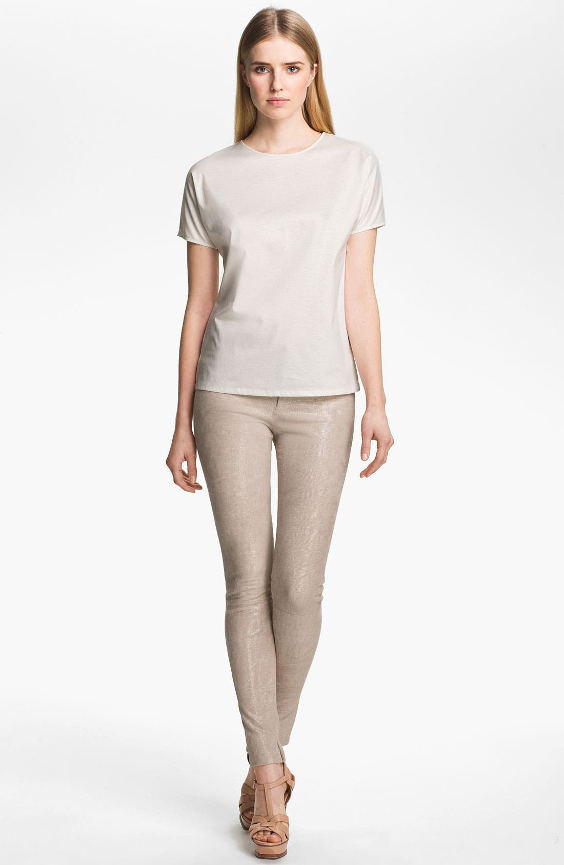 Alternate Image 4  - J Brand Ready-to-Wear 'Bette' Textured Leather Pants