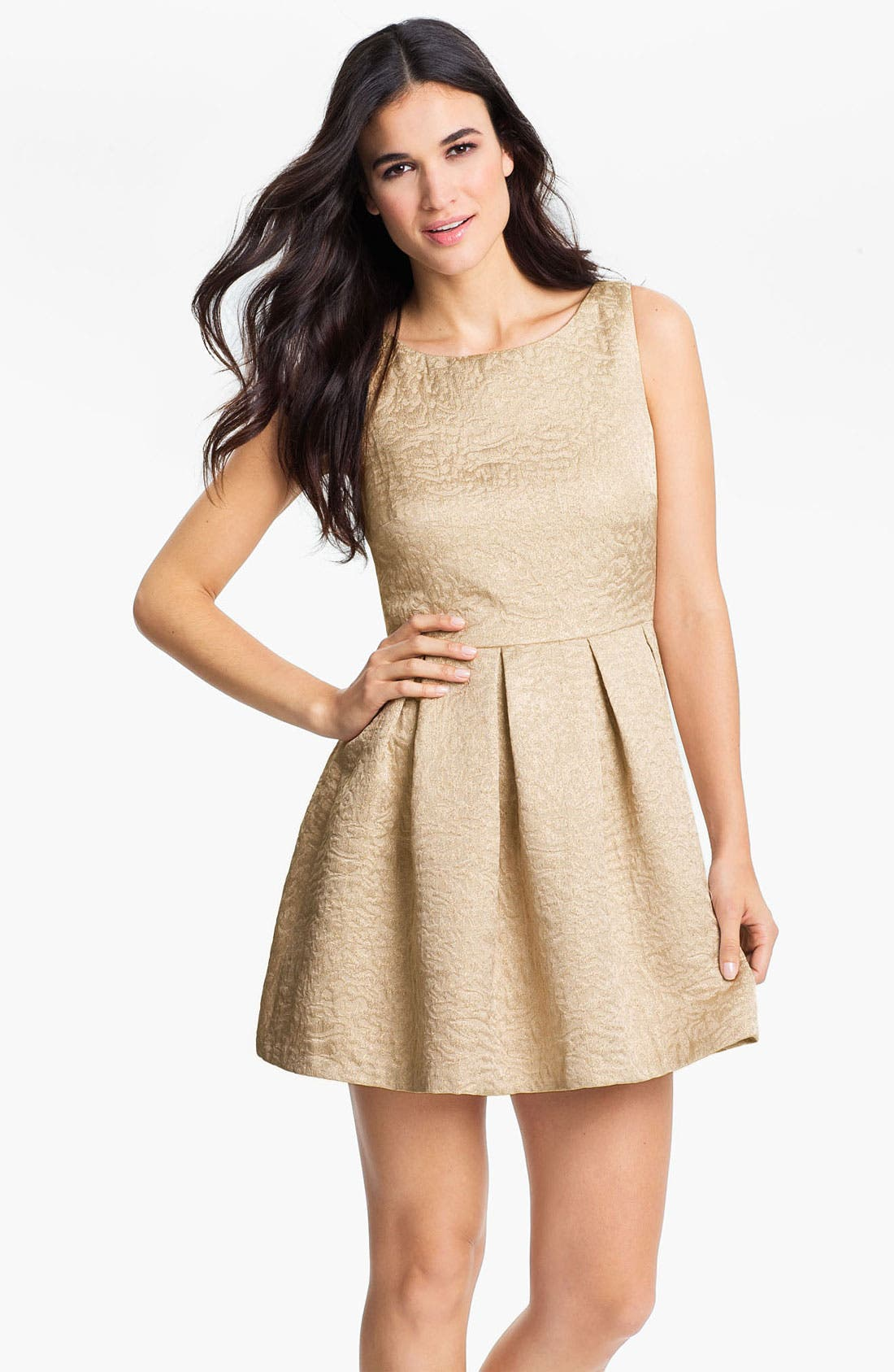 Alternate Image 1 Selected - Vince Camuto Sleeveless Jacquard Dress