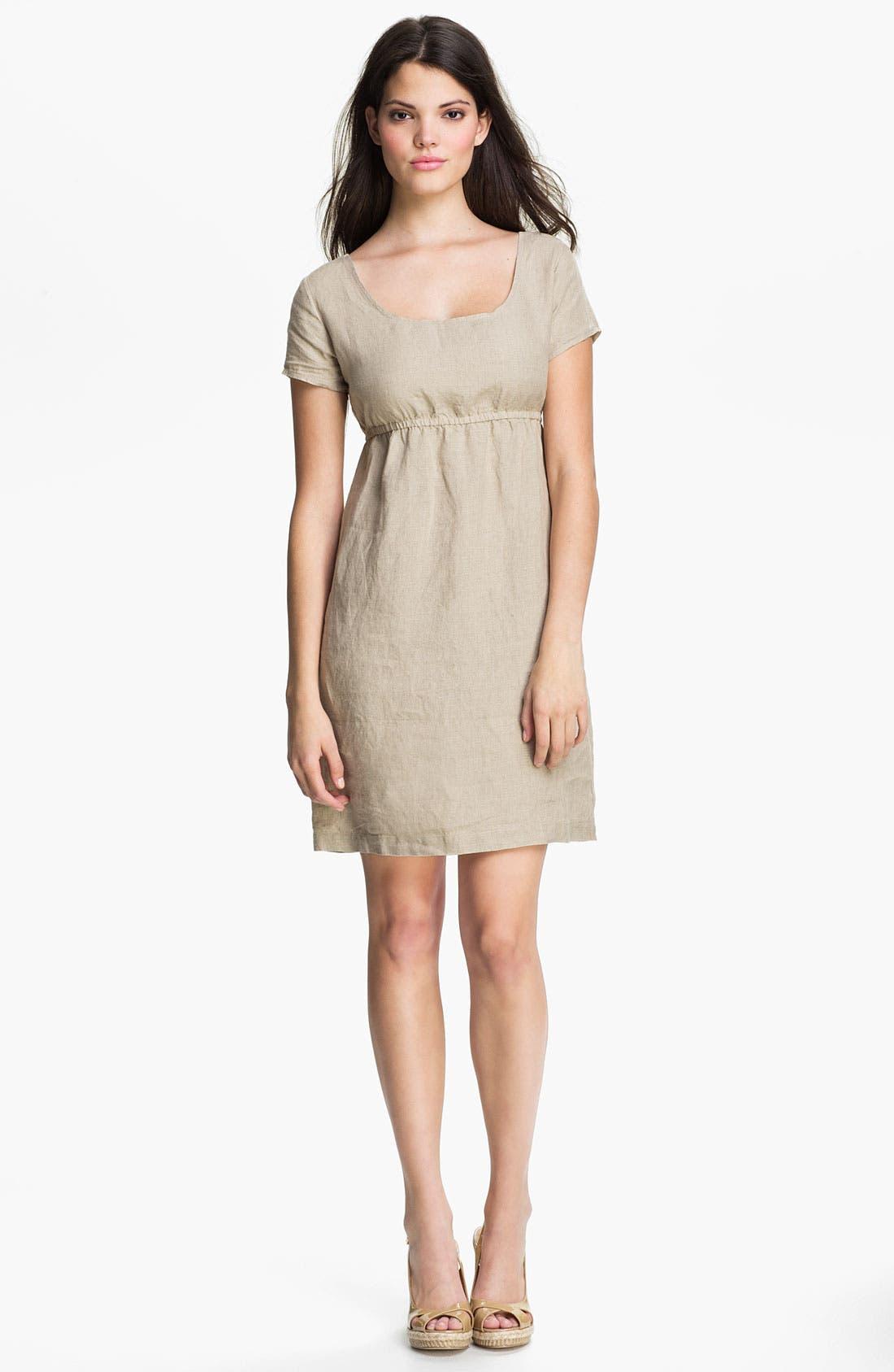 Main Image - Allen Allen Linen Babydoll Dress