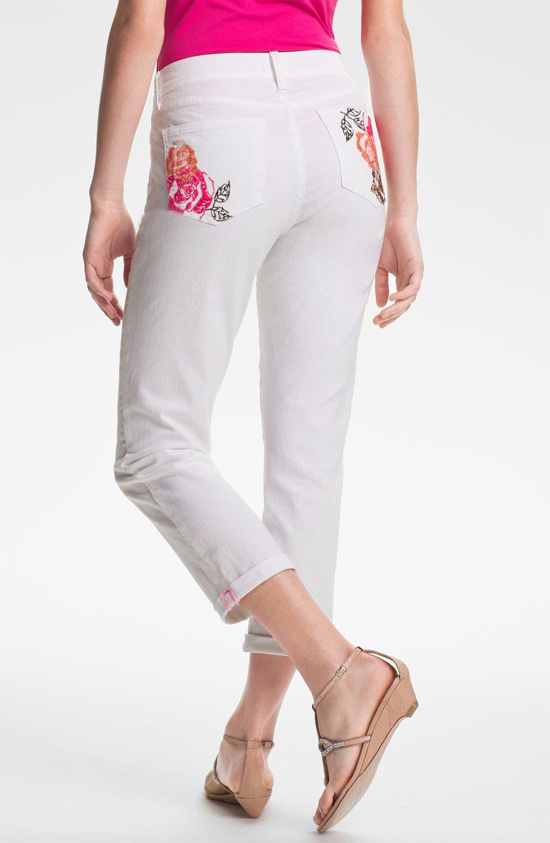 Alternate Image 2  - NYDJ 'Kendall' Cuffed Stretch Crop Jeans (Petite)