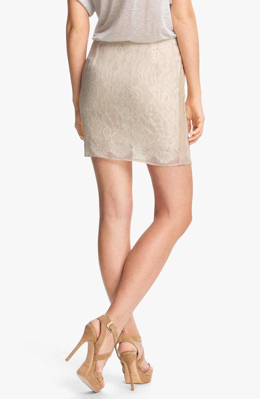 Alternate Image 2  - Haute Hippie Lace Pencil Skirt