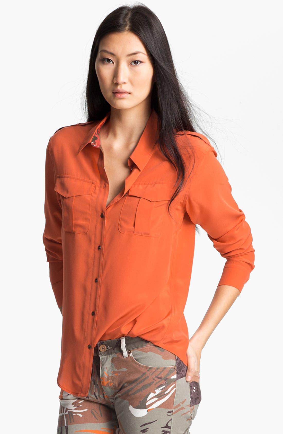 Alternate Image 1 Selected - Edun Sandwashed Silk Shirt