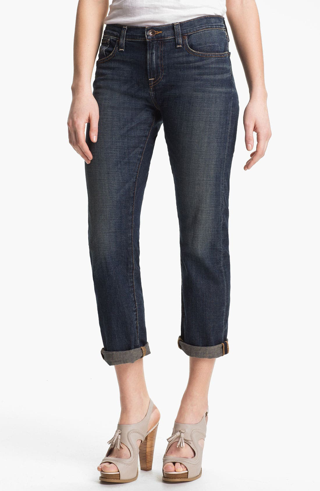 Main Image - Lucky Brand 'Sienna' Tomboy Crop Jeans