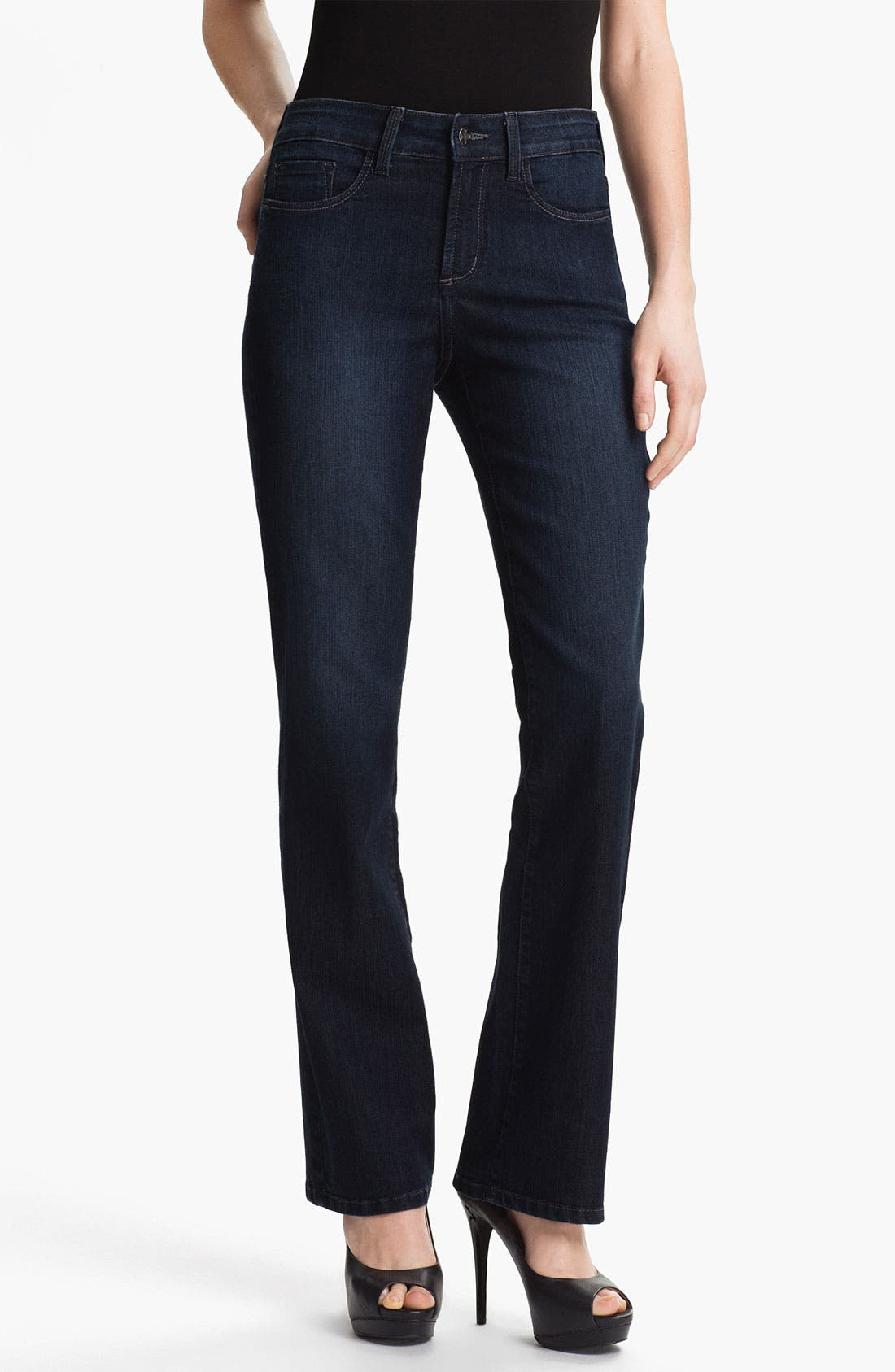 Alternate Image 1 Selected - NYDJ 'Barbara' Embellished Bootcut Jeans (Petite)