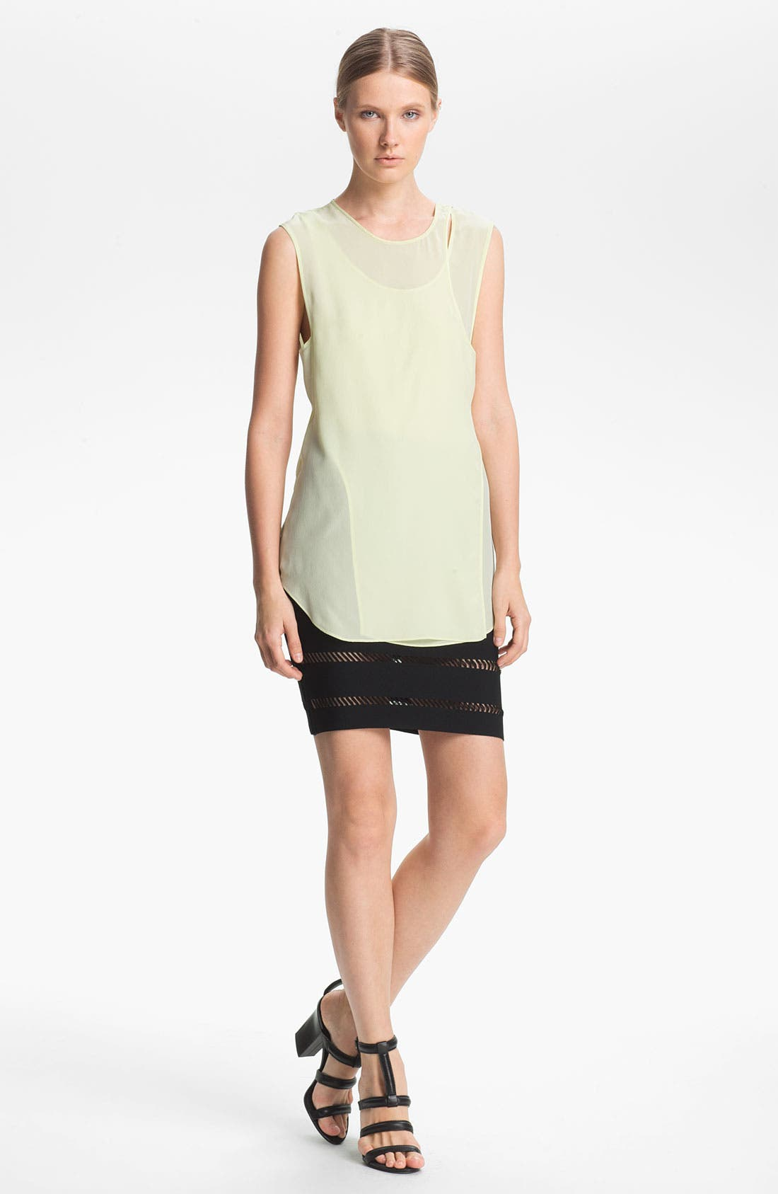 Alternate Image 1 Selected - Alexander Wang Overlapping Crêpe de Chine Tank