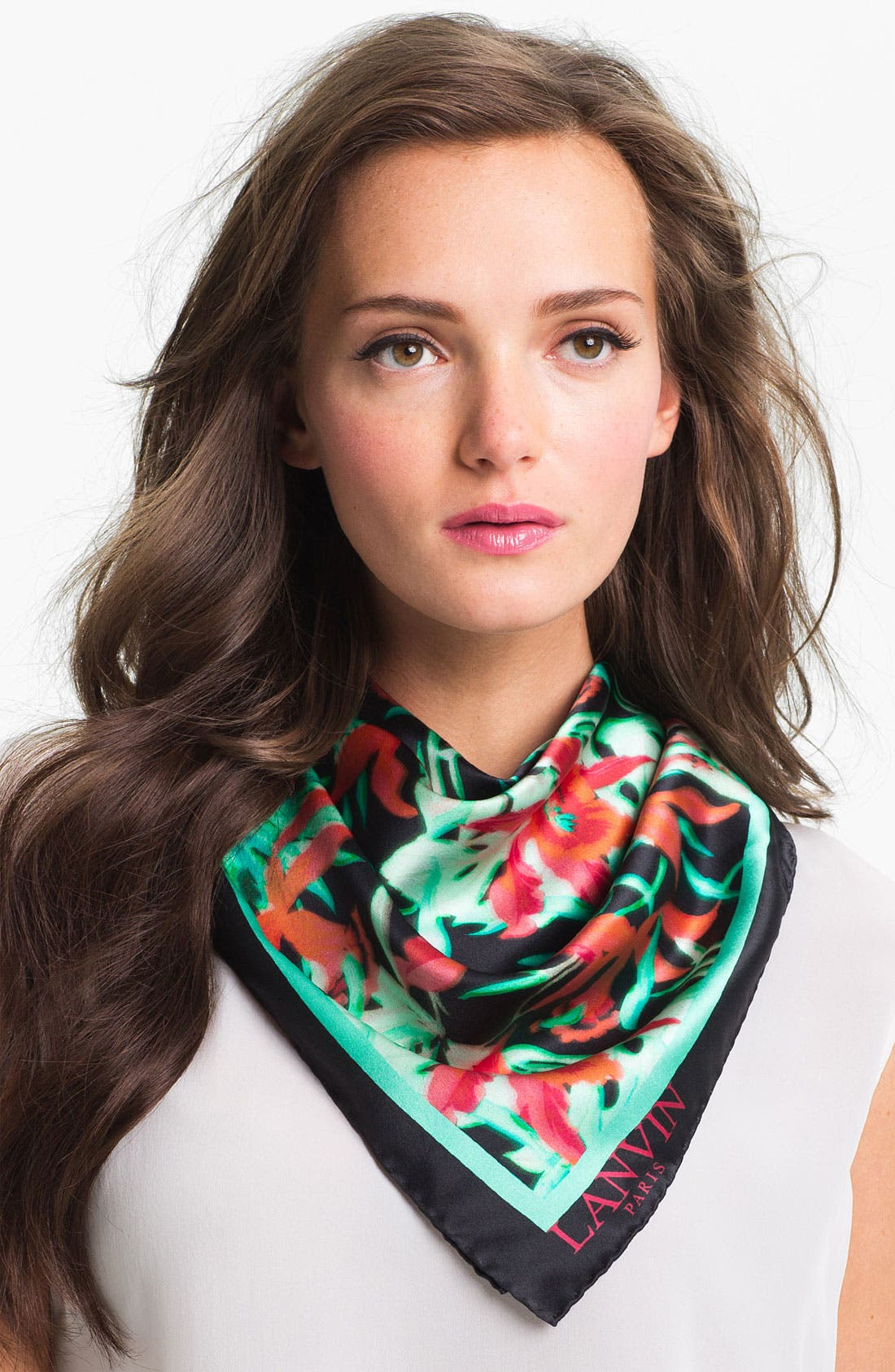 Alternate Image 1 Selected - Lanvin 'Orchid' Square Silk Scarf