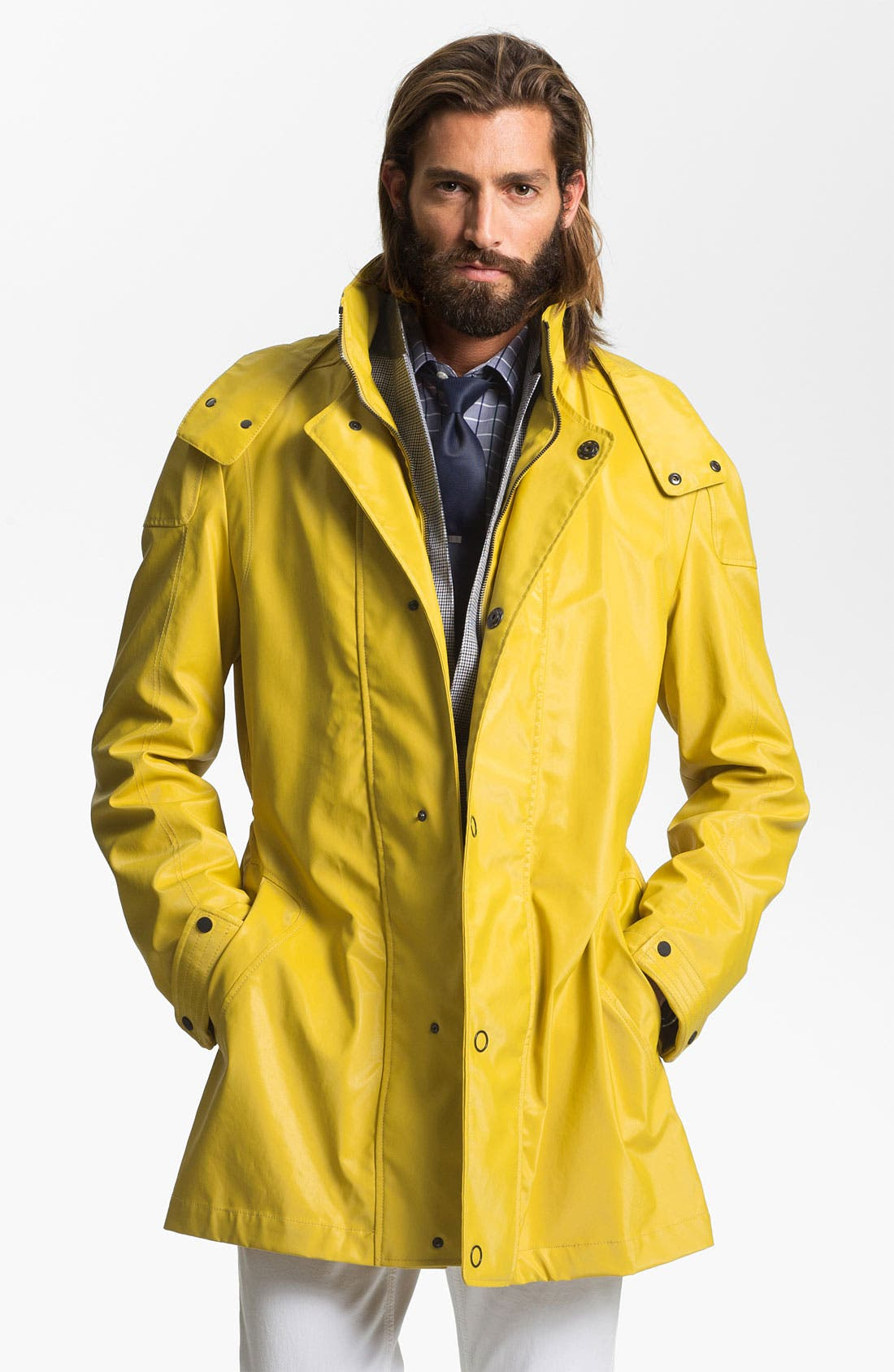 Alternate Image 1 Selected - HUGO 'Marinus' Rain Coat (Online Exclusive)