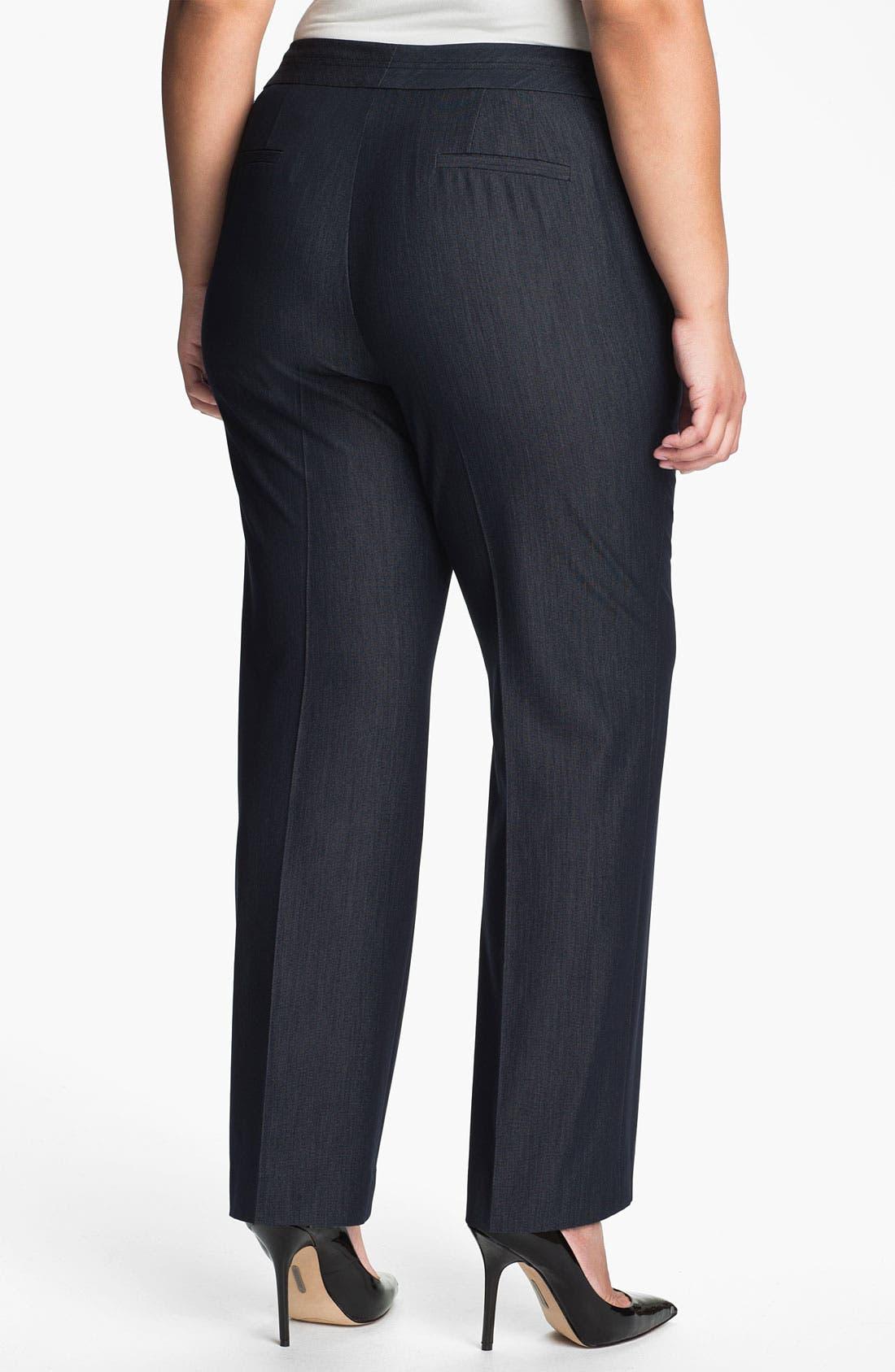 Alternate Image 2  - Sejour 'Bluescreen' Suit Trousers (Plus)