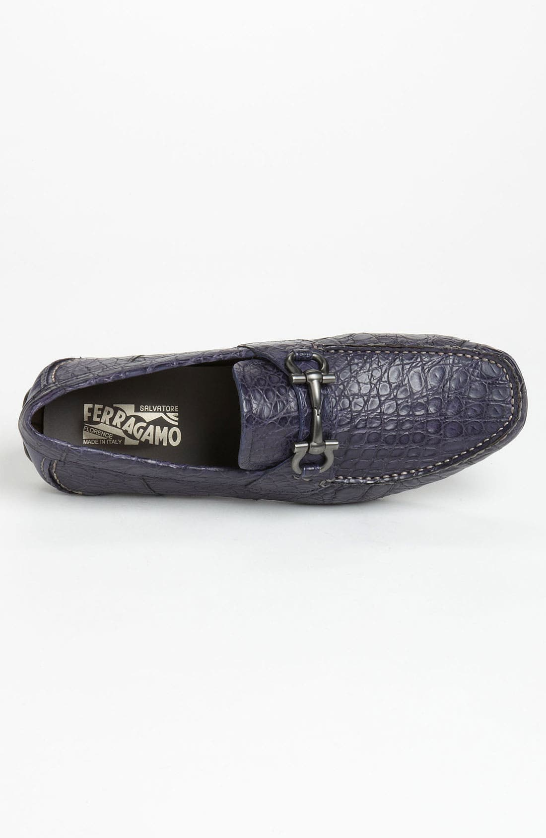 Alternate Image 3  - Salvatore Ferragamo 'Parigi' Crocodile Driving Shoe