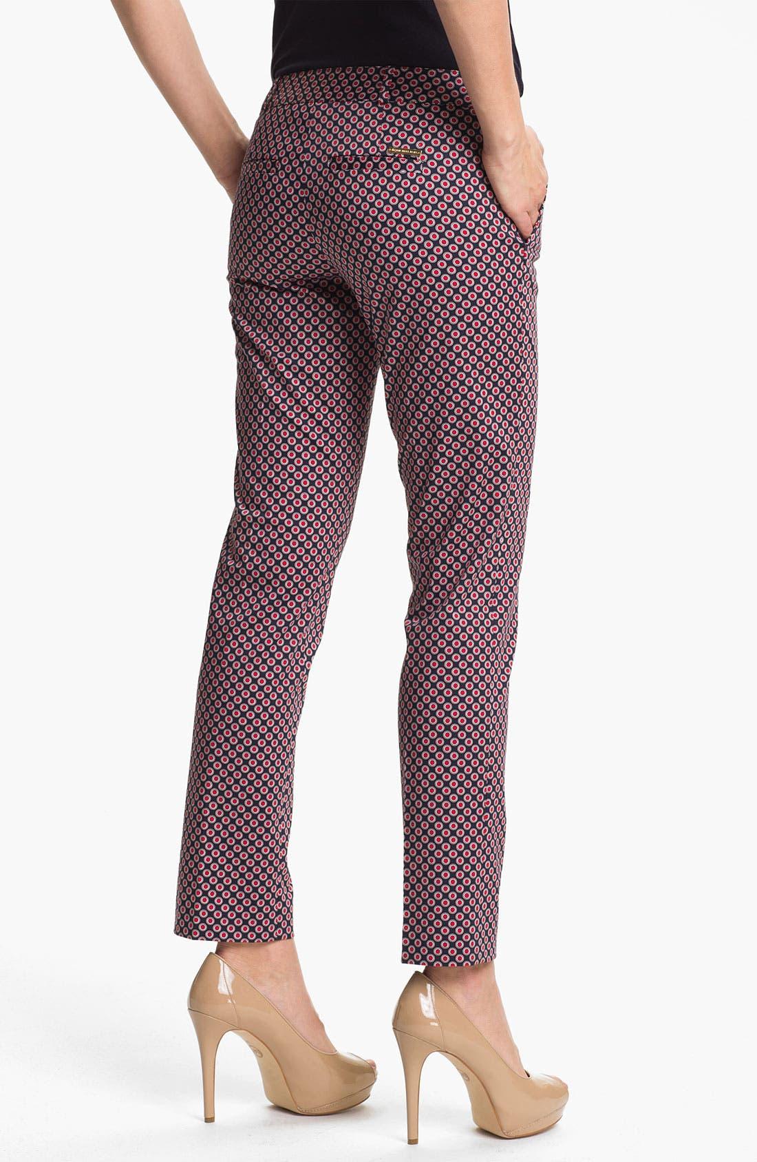 Alternate Image 2  - MICHAEL Michael Kors Skinny Print Ankle Pants