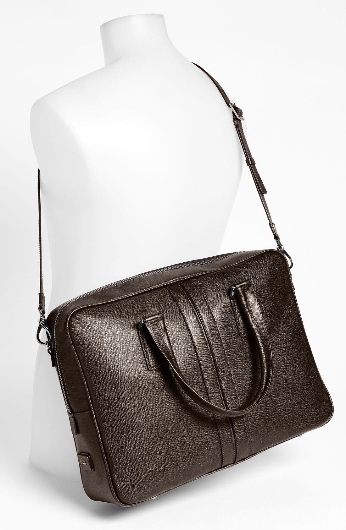 Alternate Image 4  - Tod's Textured Leather Briefcase
