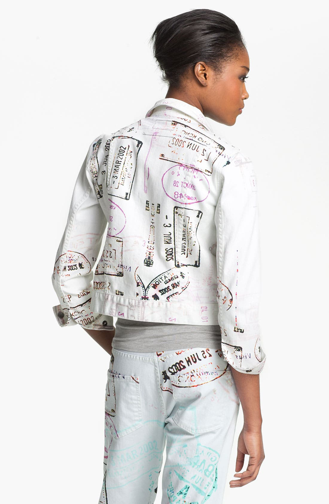 Alternate Image 3  - Mary Katrantzou Current/Elliott Print Denim Jacket