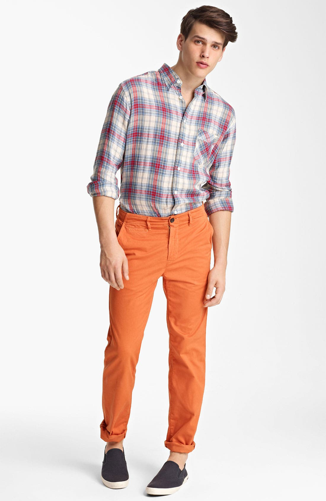Alternate Image 4  - Billy Reid 'Walland' Plaid Linen Shirt