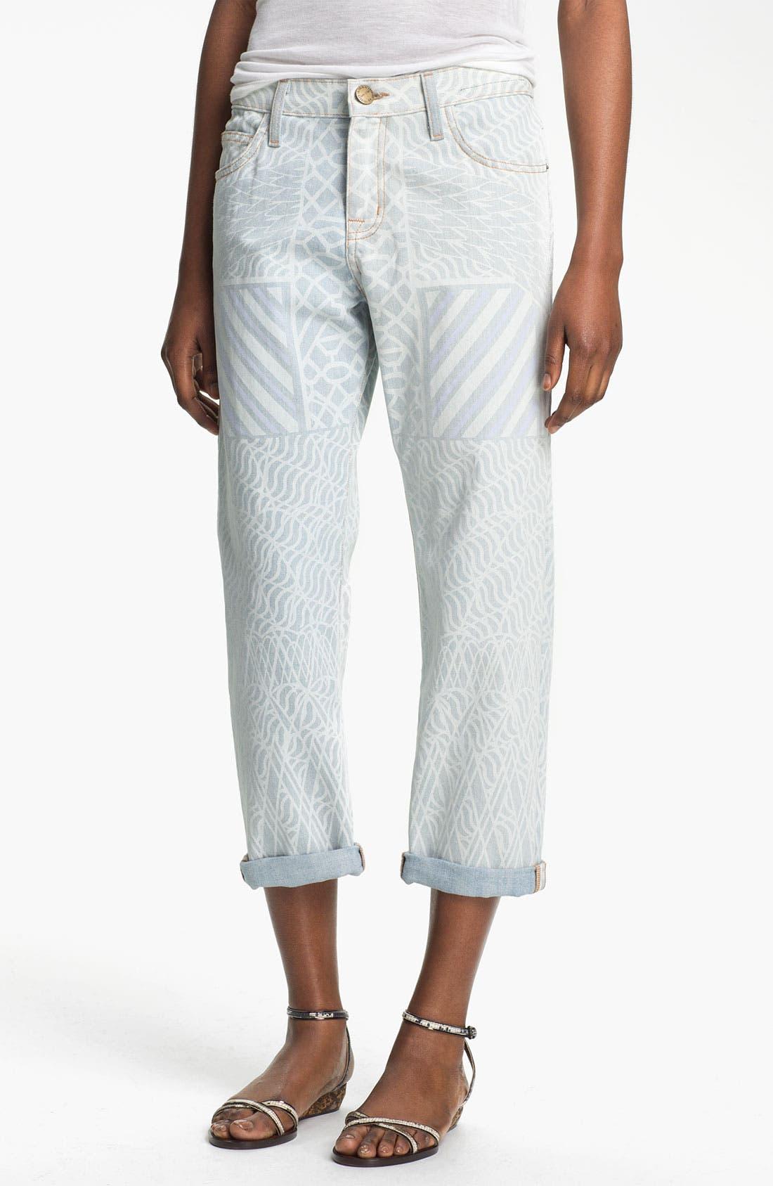 Alternate Image 1 Selected - Mary Katrantzou Current/Elliott 'The Boyfriend' Print Jeans