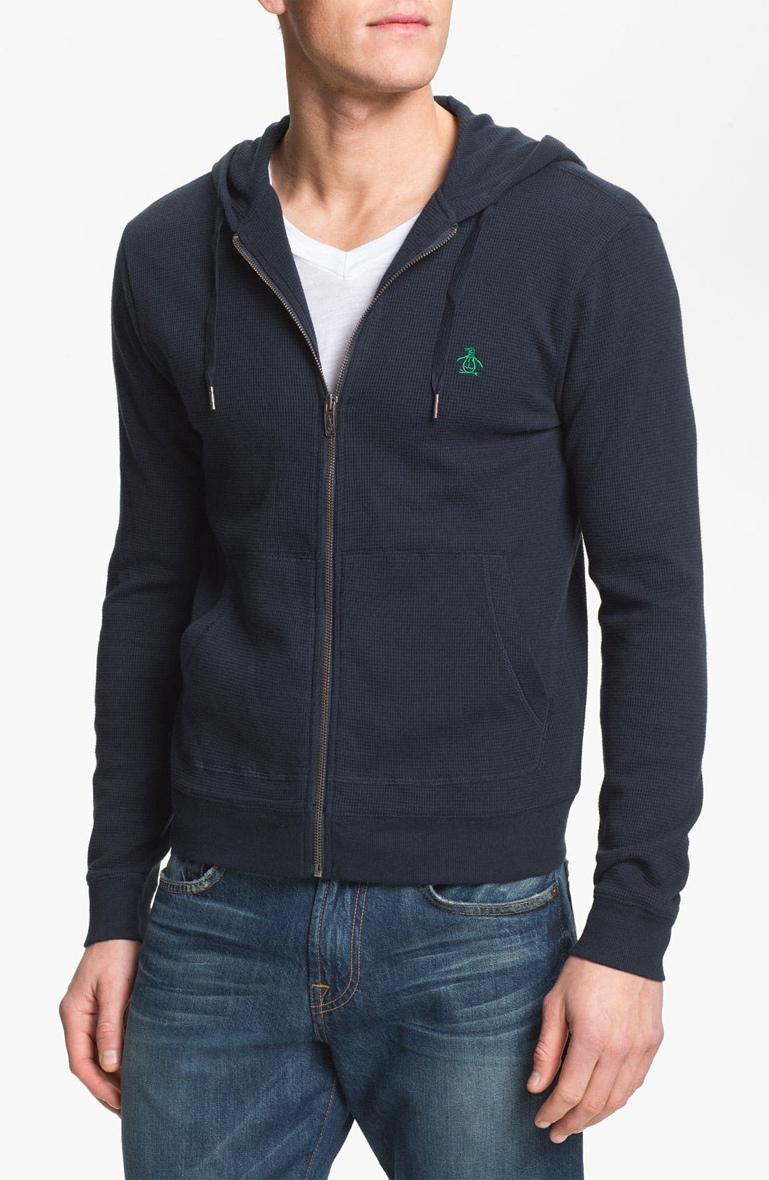 Alternate Image 1 Selected - Original Penguin Waffle Knit Zip Hoodie