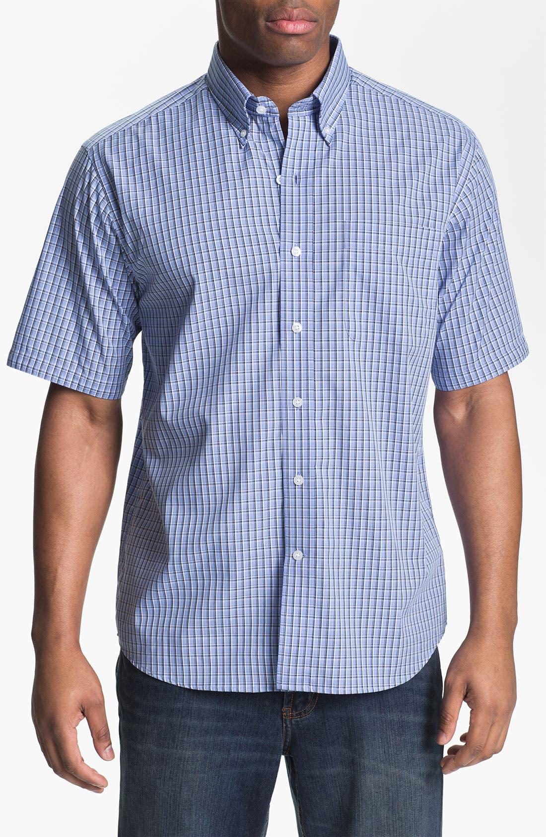 Main Image - Cutter & Buck 'Sunset Hill' Check Sport Shirt (Big & Tall) (Online Only)
