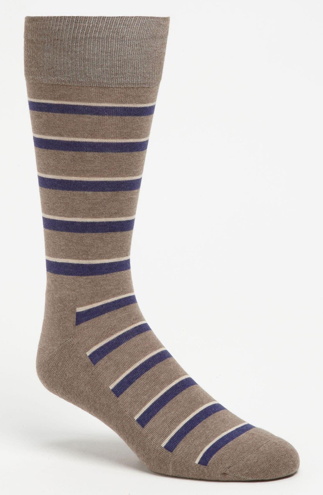 Alternate Image 1 Selected - Nordstrom Stripe Cushioned Socks