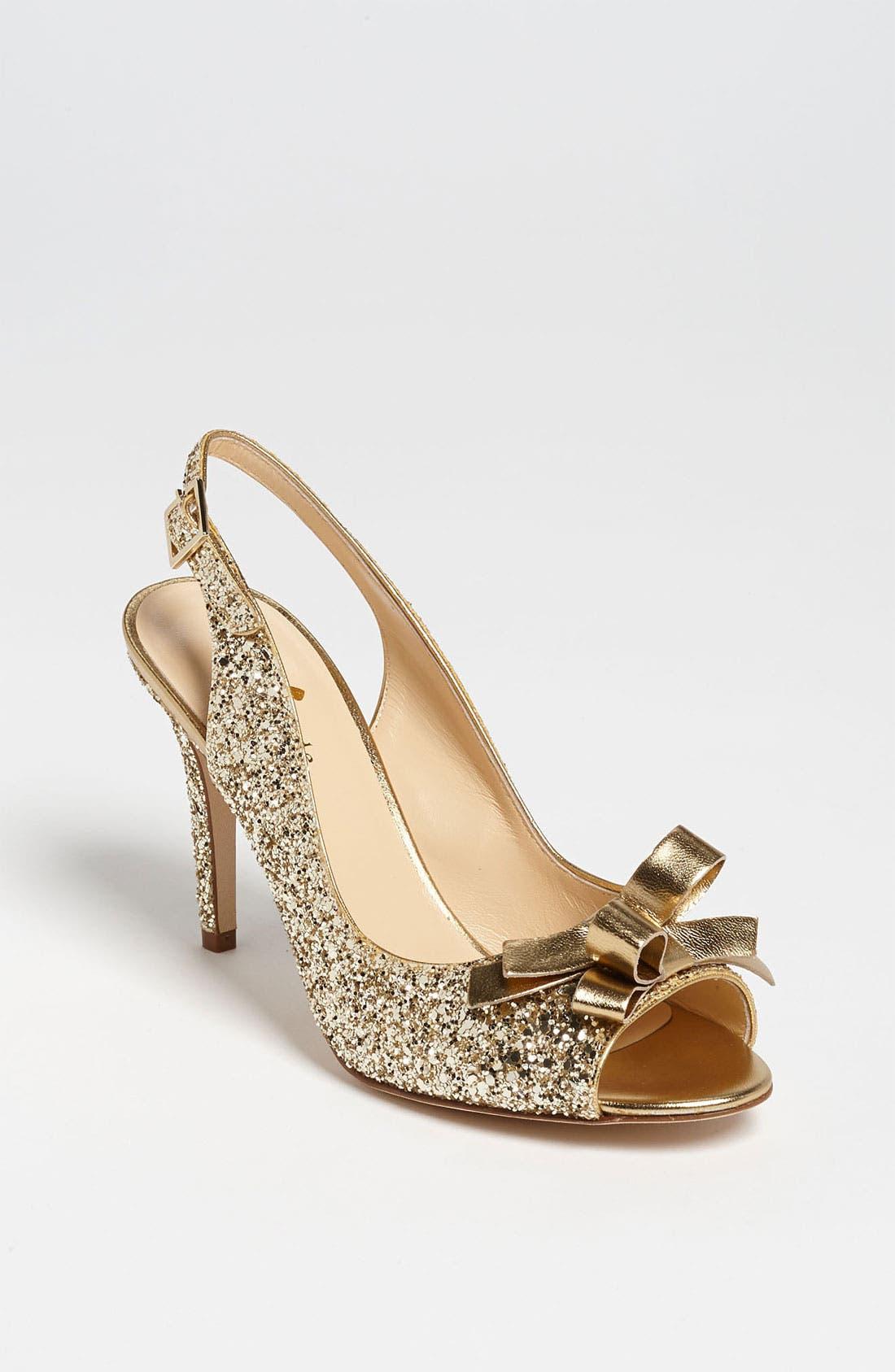 'claudia' pump,                         Main,                         color, Gold Glitter
