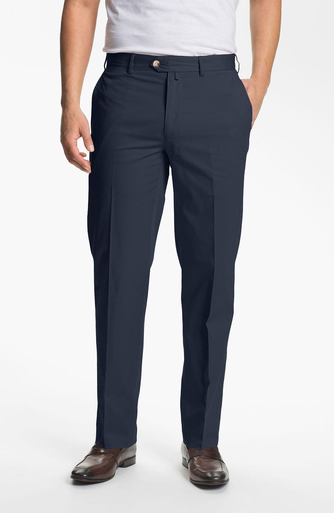 Alternate Image 1 Selected - Façonnable 'Senator' Flat Front Pants