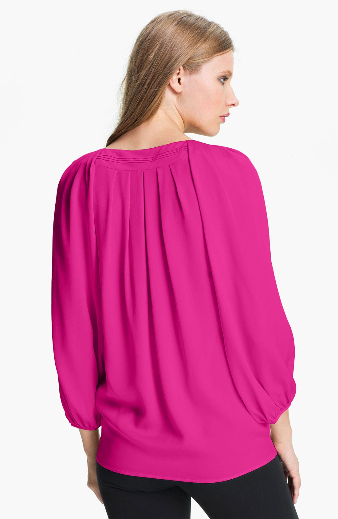 Alternate Image 2  - Diane von Furstenberg 'Cahil' Stretch Silk Blouse