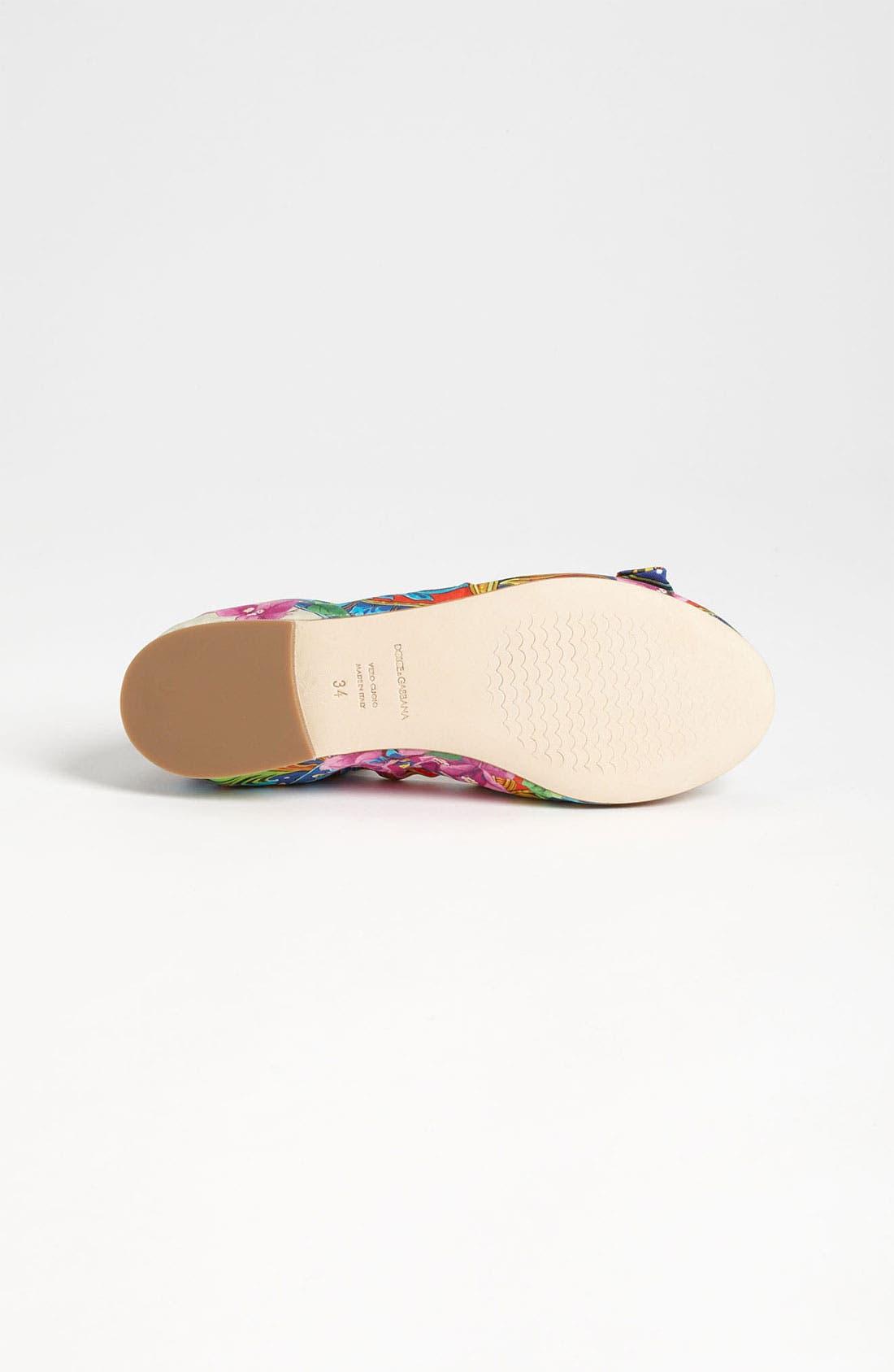Alternate Image 4  - Dolce&Gabbana Bow Flat (Little Kid & Big Kid)