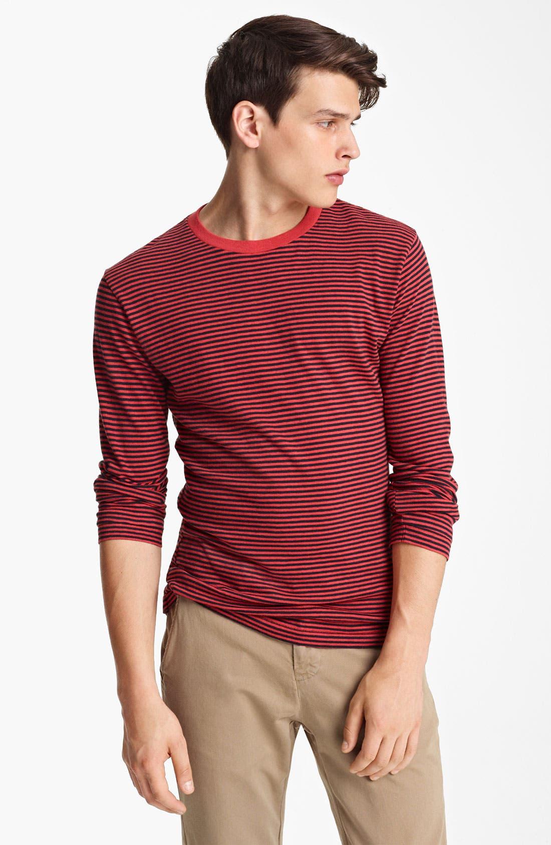 Main Image - Billy Reid Stripe Long Sleeve T-Shirt