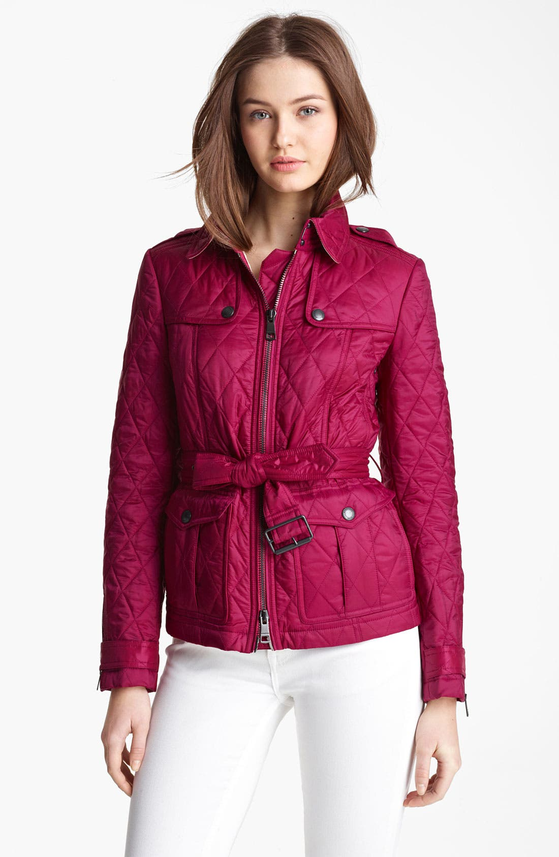 Main Image - Burberry Brit 'Toppling' Quilted Jacket