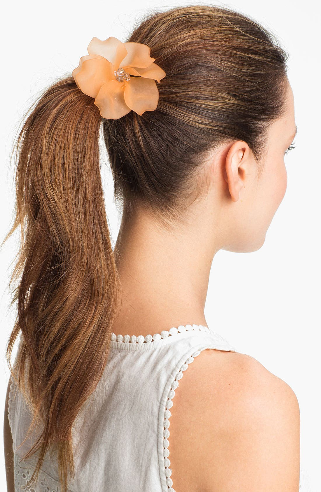Alternate Image 1 Selected - Tasha 'Frosted Flower' Ponytail Holder