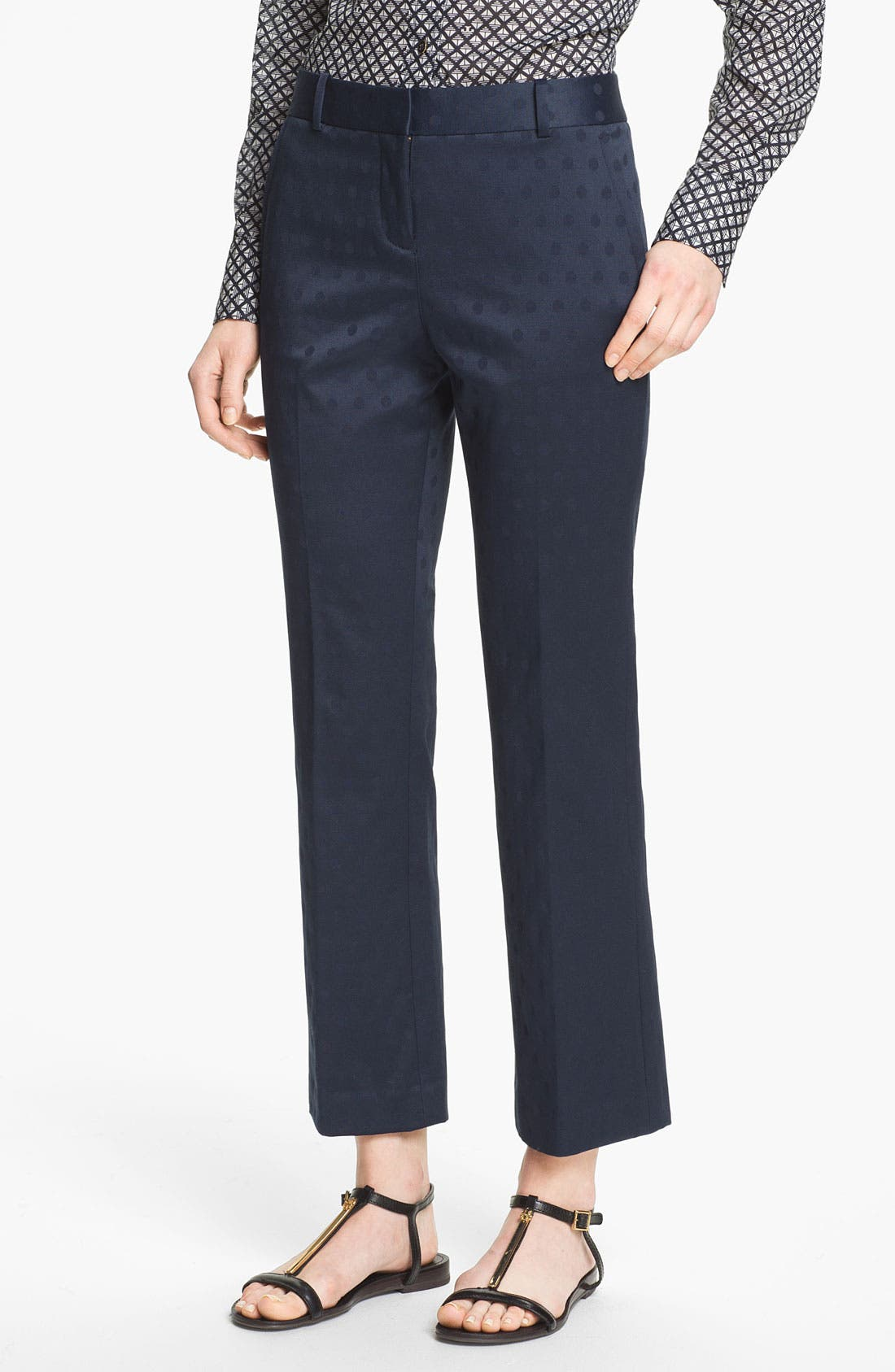 Alternate Image 1 Selected - Tory Burch 'Harp' Jacquard Pants