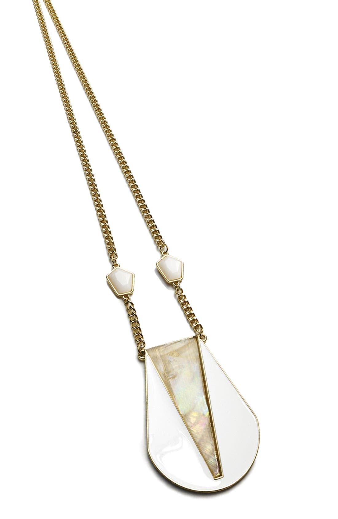 Alternate Image 2  - Robert Rose 'Deco' Shell Pendant Necklace