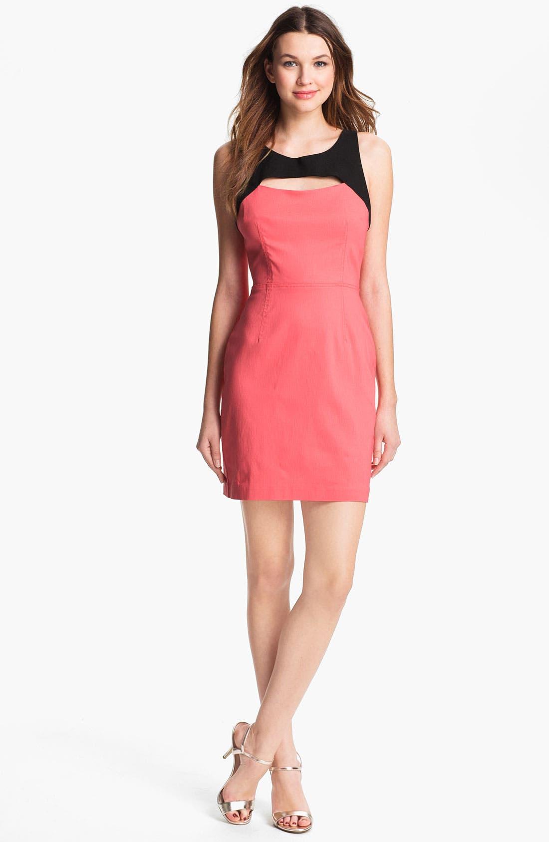 Main Image - Betsey Johnson Cutout Detail Sheath Dress