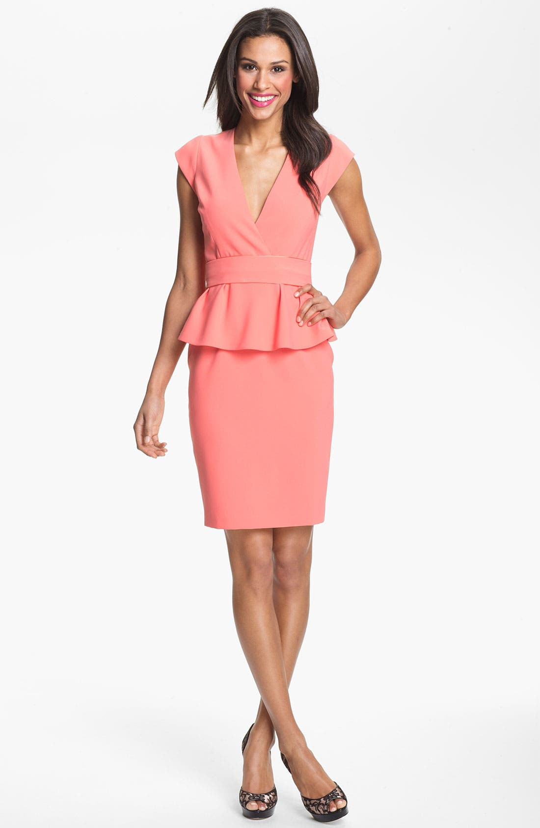 Main Image - ERIN erin fetherston Crepe Peplum Dress