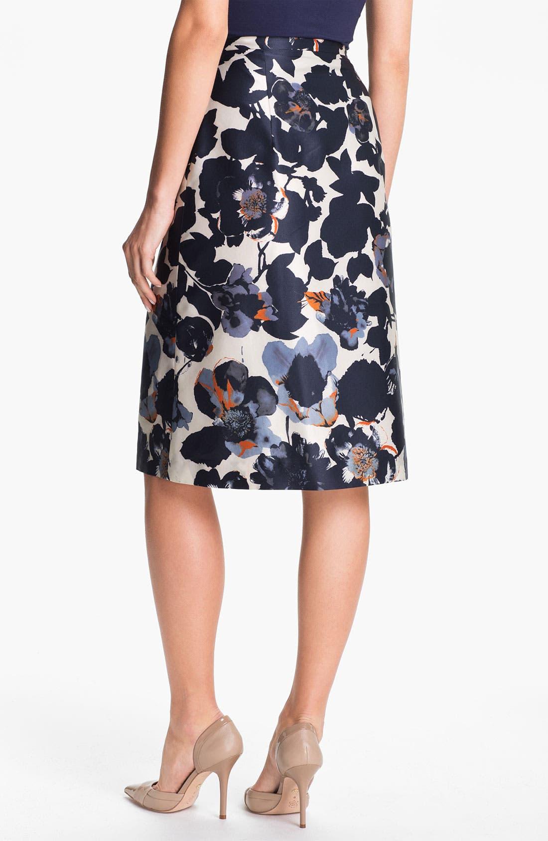 Alternate Image 2  - BOSS Black 'Vanas' Silk & Cotton Skirt