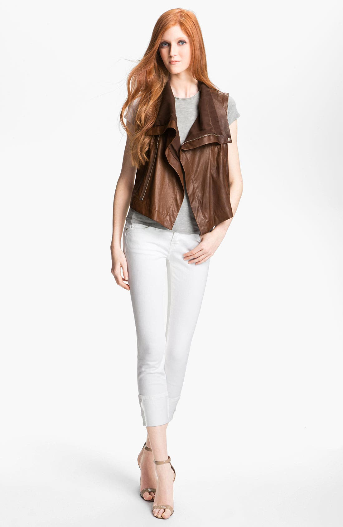 Alternate Image 2  - Veda 'Max' Convertible Leather Jacket