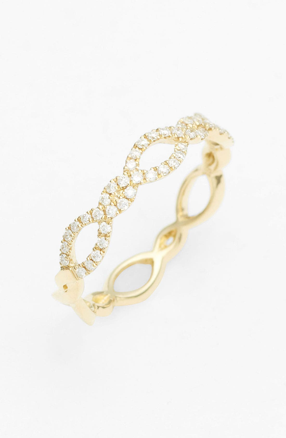 Bony Levy Stackable Weave Diamond Ring (Nordstrom Exclusive)