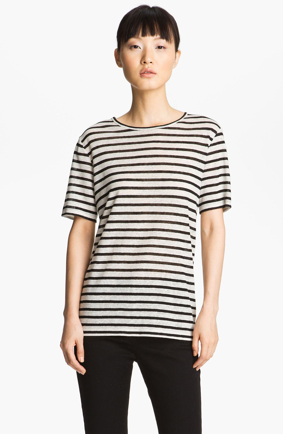 Alternate Image 2  - T by Alexander Wang Stripe Linen Tee