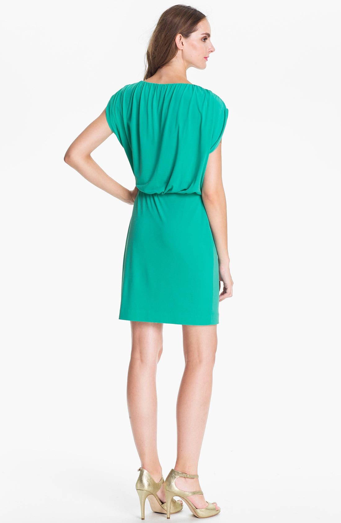Alternate Image 2  - Trina Turk Embellished Blouson Jersey Dress
