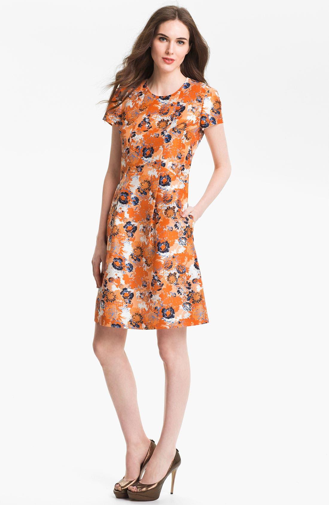 Alternate Image 1 Selected - BOSS Black 'Denirali' Silk Dress (Online Only)